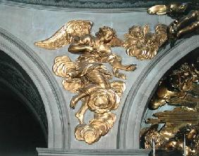 Louis XIV style angel, from the arch on the left of the High Altar in the Chapel