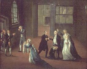 Louis XVI (1754-93) Bidding Farewell to his Family