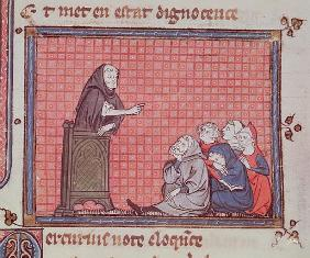 Ms 1044 fol.67 The Sermon, from Ovide Moralise written Chretien Legouais