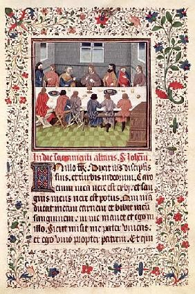 Ms 370 fol.184 The Last Supper