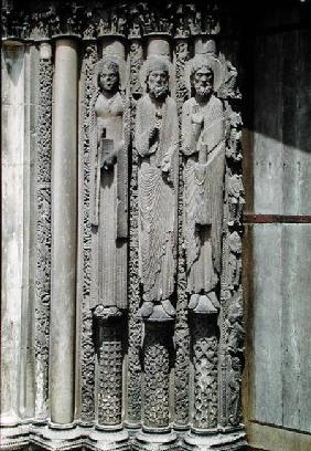Old testament figures, from the royal portal of the west facade