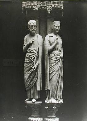 Statues of Philippe Hurepel (1200-34) Comte de Clermont and his wife Mahaut (d.1260) Comtesse de Bou