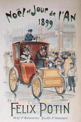 Advertisement for 'Felix Potin', Christmas and New Year 1899 (colour litho)