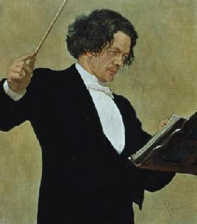 Anton Rubinstein (1829-94) Conducting (litho)