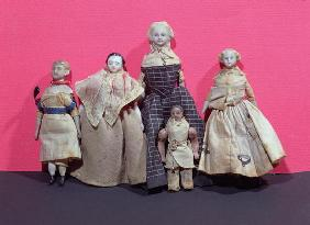 Collection of dolls, possibly used by Honore de Balzac (1799-1850) as an aide memoire for 'La Comedi