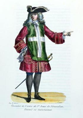 Knight of the Order of St. John of Jerusalem, illustration from 'History and Costumes of Monastic Or