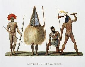 Natives of New Ireland, from 'Voyage autour du Monde, execute par Ordre du Roi sur La Corvette de Sa