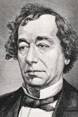 Portrait of Benjamin Disraeli, 1st Earl of Beaconsfield (1804-81) (engraving)