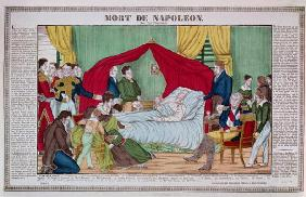 The Death of Napoleon Bonaparte (1769-1821) c.1840 (coloured engraving)