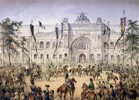 The Palais de l'Industrie at the Exposition Universelle in 1855 (coloured engraving)