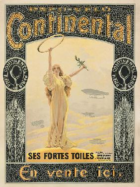 Advertising poster for Continental bicycle tyres