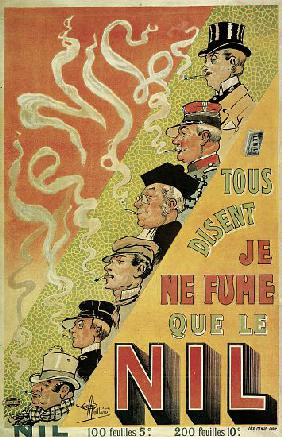 Poster advertising 'Nilum' cigarette papers
