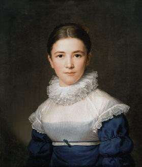 Portrait of Lina Groger, the foster daughter of the Artist
