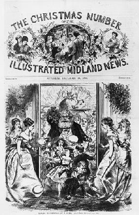 Bringing in Christmas, front cover of the ''Illustrated Midland News'', December 18th 1869