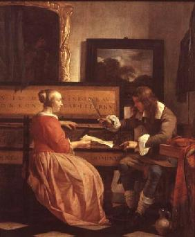A Man and a Woman Seated by a Virginal