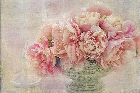 A Posy of Pink Peonies