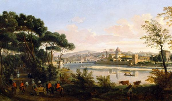 View of Florence from the Cascine