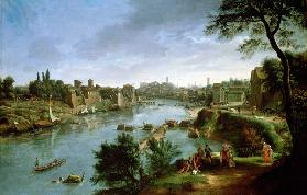View of the River Tiber in Rome (pair of 68188)