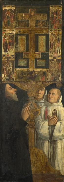 Cardinal Bessarion and Two Members of the Scuola della Carità in prayer with the Bessarion Reliquary