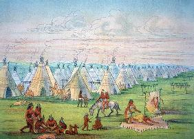 Sioux Camp Scene, 1841 (w/c & ink on paper)