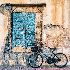 Old Window and Bicycle