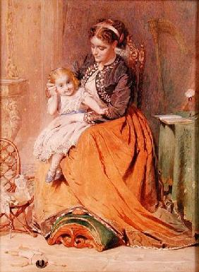 """Tick, Tick, Tick"" - a girl sitting on her mother's lap listening to her gold watch ticking"