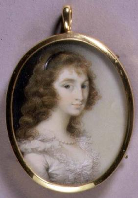 Portrait Miniature of Maria Tryphena Blunt (c.1769-89) c.1785-9 (w/c on ivory)