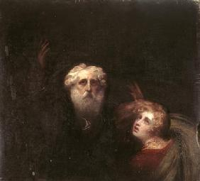 Prospero and Miranda, fragment from 'The Tempest'
