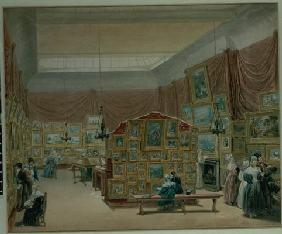 Interior of the Gallery of the New Society of Painters in Watercolour, Old Bond Street, 1834