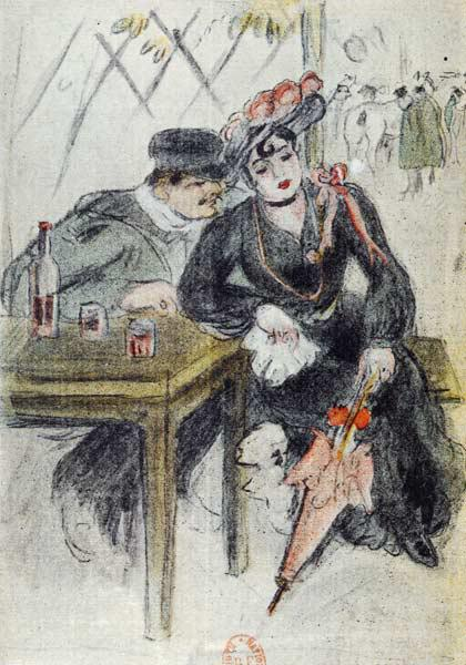 A Prostitute and her Client, illustration from ''La Maison Philibert'' Jean Lorrain (1855-1906) publ