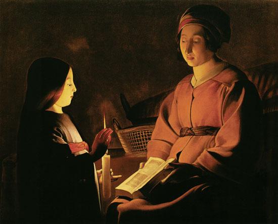 Titre de l'image : Georges de La Tour - Information de la jeune femme