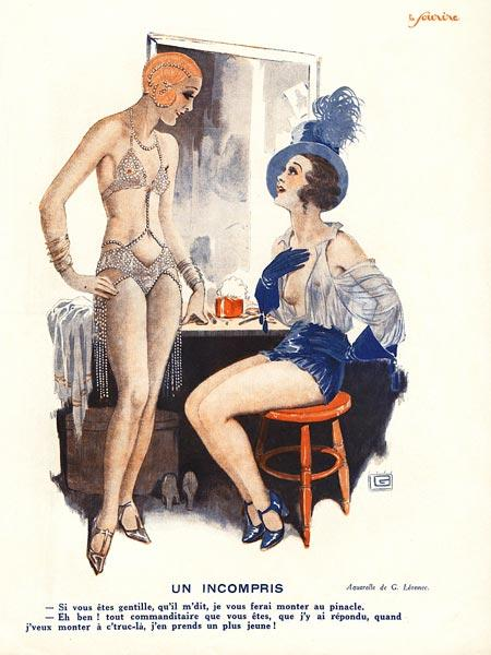 Un incompris, illustration from ''Le Sourire'', 1920s (colour litho)