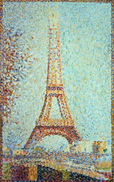 La Tour Eiffel Peinture Huile Sur Toile De Georges Seurat