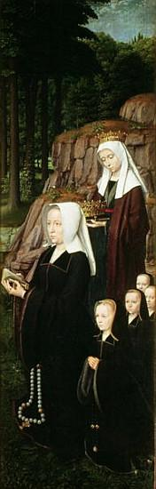 Right hand panel of the Jean de Trompes Triptych with Patrons (detail of 61195)