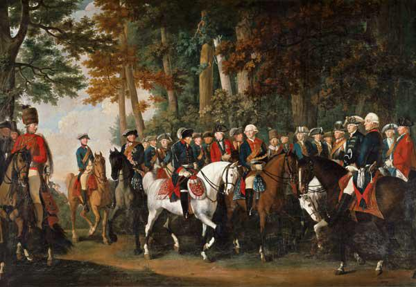King Frederick II''s return from Preussen von Manoever, c.1785