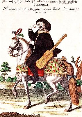 Scaramouche on Horseback