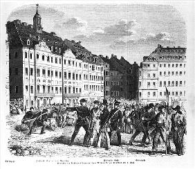 Uprising in Dresden on 6th March 1848, illustration from ''Illustrierte Zeitung''