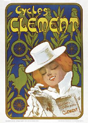 Poster advertising 'Clement' bicycles