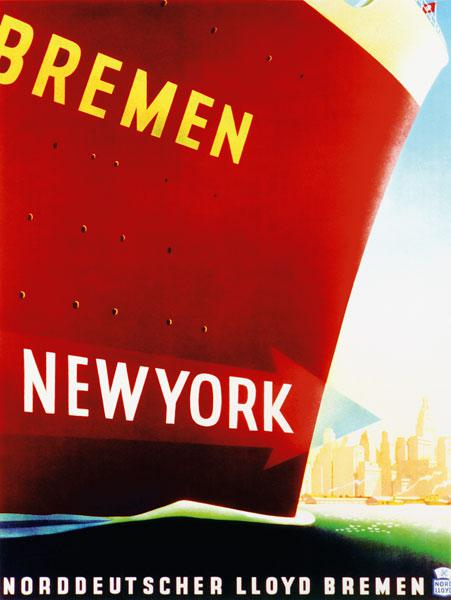 'New York', poster advertising the North German Lloyd Line