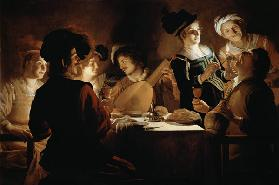 A Feast with a Lute PLayer