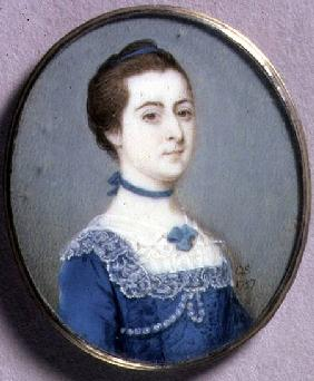 Portrait Miniature of a Lady in a Blue Dress