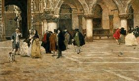 A Walk in the Piazzetta, Venice