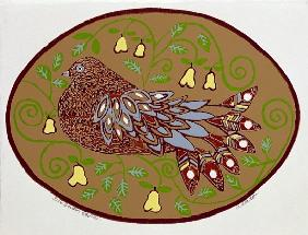 Partridge in a Pear Tree (print)