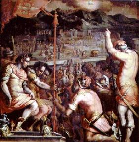 The Founding of Florence from the ceiling of the Salone dei Cinquecento