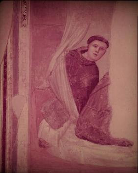 Monk, detail from the Life of St. Francis cycle, Bardi Chapel