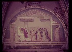 Pope Innocent III (1160-1216) Approving the Rule of St. Francis, from the Bardi Chapel
