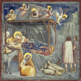 Giotto, Nativite et Annonce aux bergers