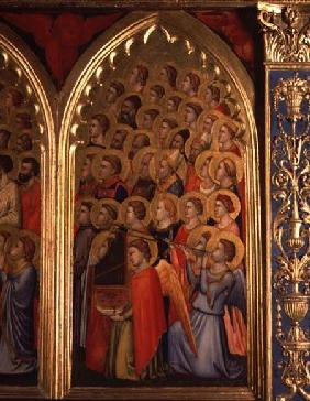 Angels from the Coronation of the Virgin Polyptych (far right panel)