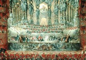 Concert given by Cardinal de La Rochefoucauld (1700-99) at the Argentina Theatre in Rome, in Celebra