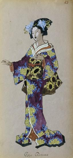 Costume for member of female chorus from Madama Butterfly by Giacomo Puccini
